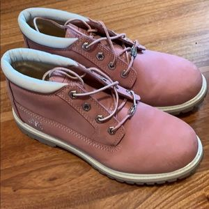 Pink Timberlands only worn a few times